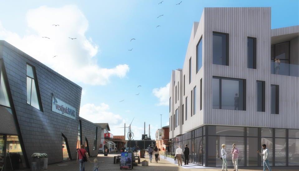 Et nyt byggeri med café, restaurant og 8 attraktive boliger i Hvide Sande.