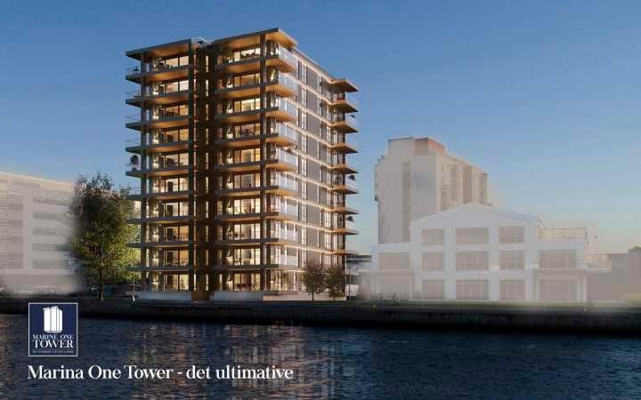 Tårnet opføres i 10 etager og indrettes med 34 lejligheder i varierende størrelser