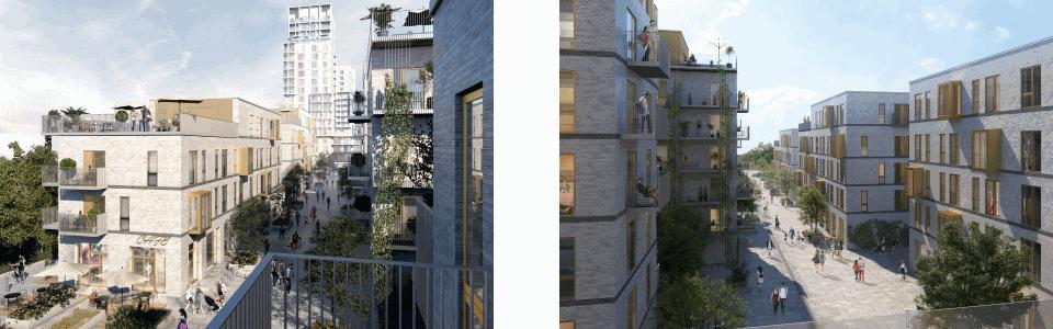 Rødovre Port - lejlighederne opføres i en og to etager med udemiljøer