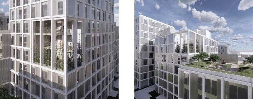 19.000 m² nybyggeri langs Ørestads Boulevard med uderum til fælles ophold