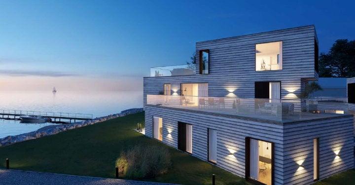 Bebyggelsen udgør samlet 2.751 m² fordelt på 5 blokke