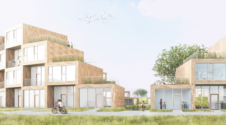 """Sneglehusene - en del af bydelen """"Nye"""" i Aarhus"""