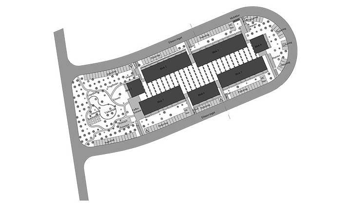 Projektet i Slagelse omfatter 76 lejeboliger fordelt på blokke i to etager
