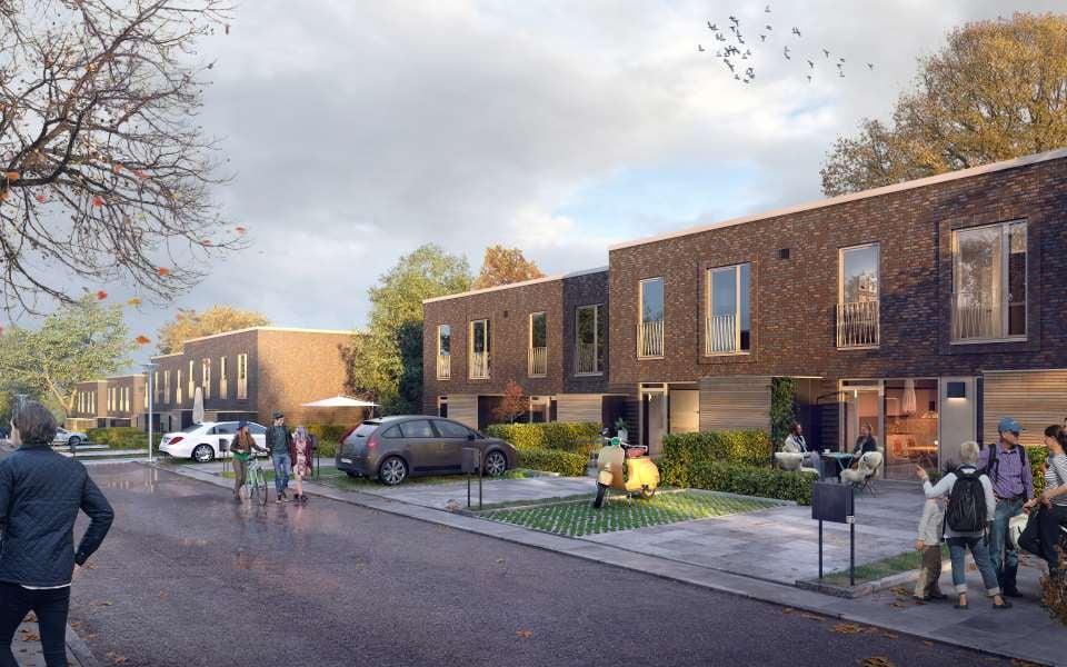 Nye rækkehuse i Bindesbøll byen