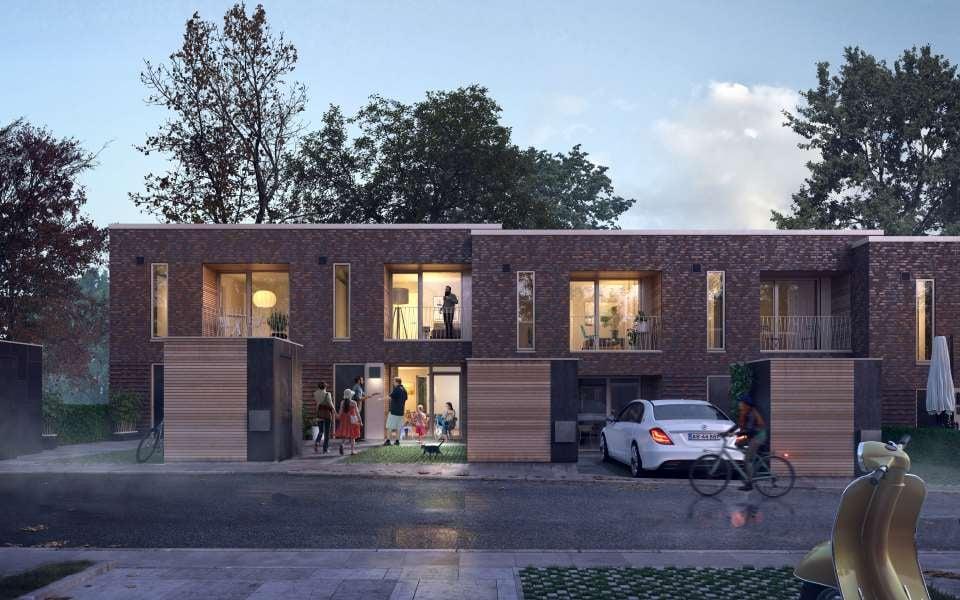 Til boligerne i Bindesbøll anlægges i alt 82 parkeringspladser