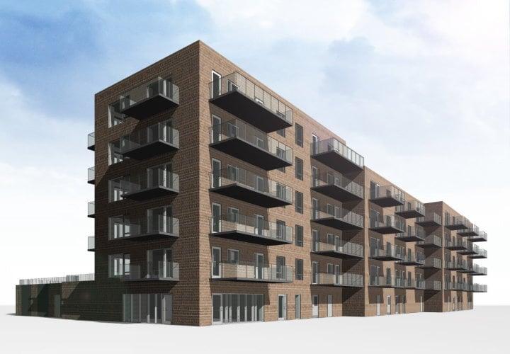 Nye boliger i Holbæk med udsigt over fjord og by