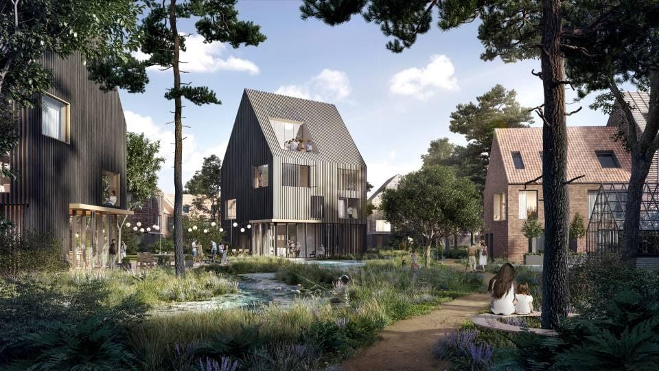 Nyt boligområde med mulighed for 300-400 nye bæredygtige boliger.