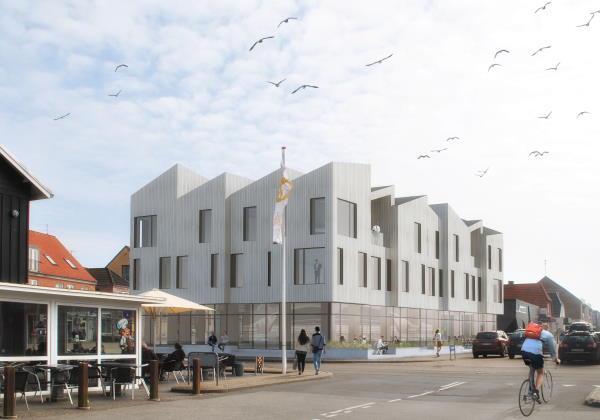Nyt centrum i Hvide Sande med café, restaurant og 8 boliger